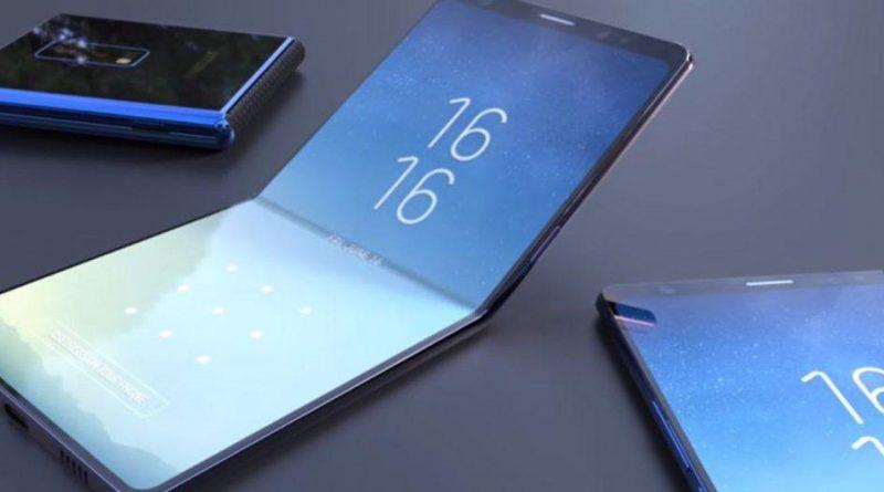 Opvouwbare smartphone van Samsung