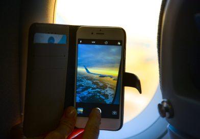 Vliegtuigstand van je telefoon