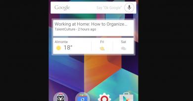 Widgets op smartphones